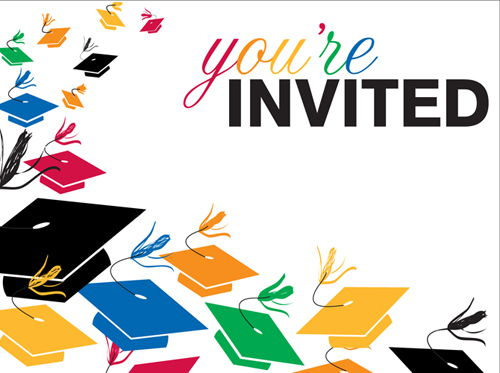 Graduation Party Invitations Clipart Free Clipart - Free Clipart banner transparent download