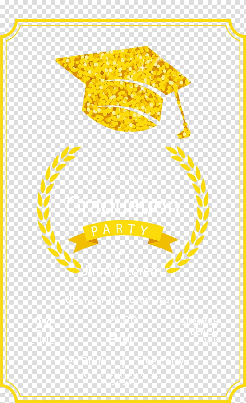 Beer 8one8 Brewing Graduation ceremony Party, Golden bachelor cap ... clip art transparent stock