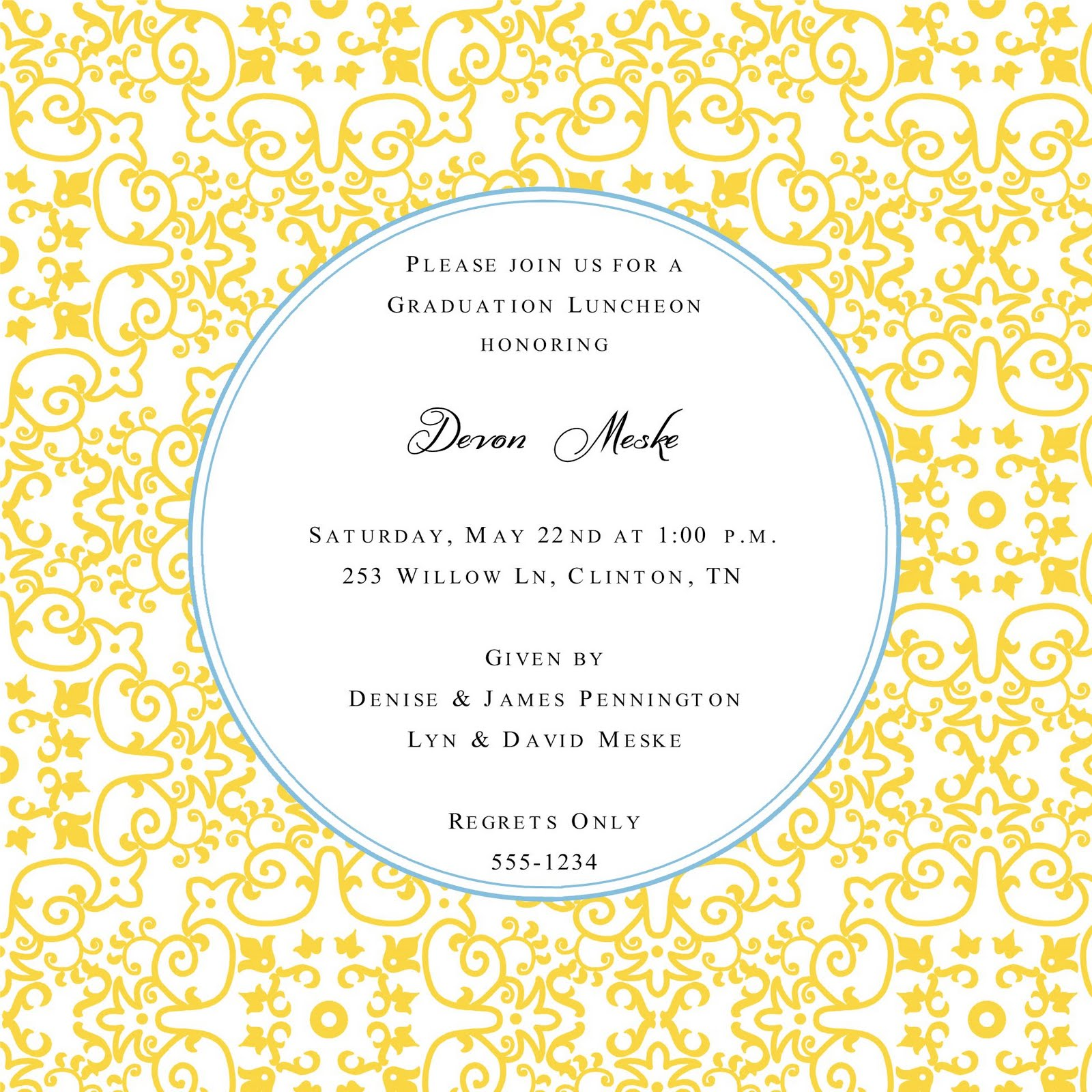 Wedding Party Dresses : Graduation Party Invitation Clipart With ... clip art royalty free library