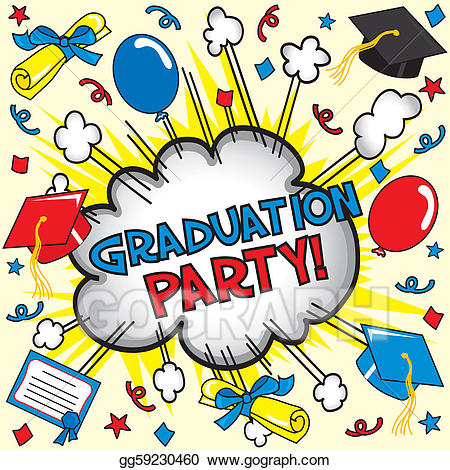 EPS Illustration - Graduation party card. Vector Clipart gg59230460 ... clip library
