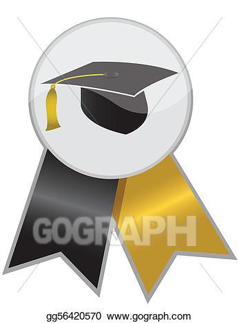 Graduation ribbon clipart banner transparent Vector Art - Graduation ribbon. Clipart Drawing gg56420570 - GoGraph banner transparent