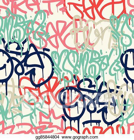 Graffiti signs clipart image royalty free library Vector Art - Graffiti background seamless pattern. EPS clipart ... image royalty free library