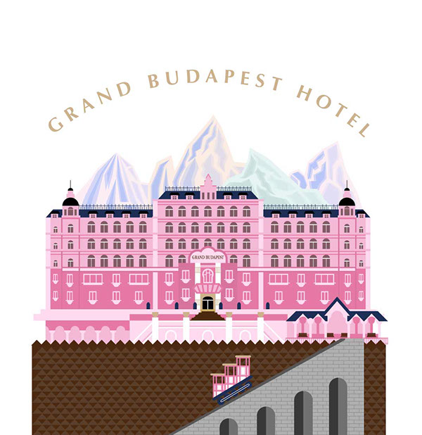Grand hotel clipart jpg black and white GRAND BUDAPEST HOTEL on Behance jpg black and white