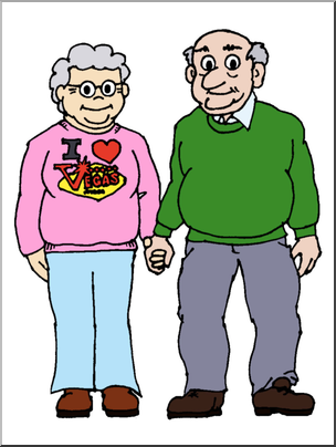 Grandfather and grandmother clipart banner royalty free Clip Art: Family: Grandmother & Grandfather Color I abcteach.com ... banner royalty free