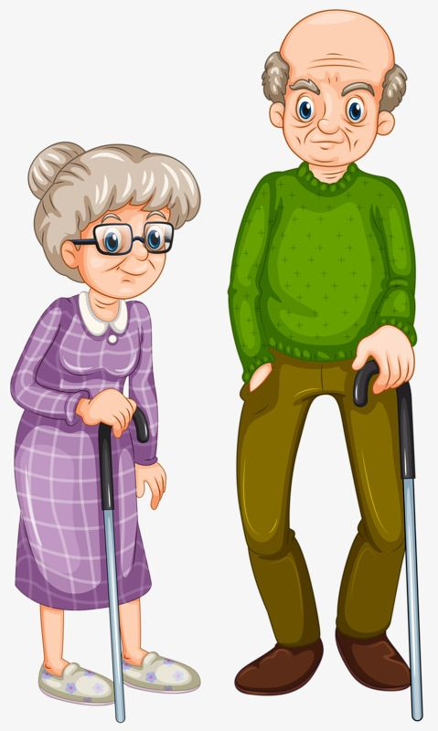 Grandfather and grandmother clipart freeuse Support Crutches Old Couple, Grandfather, Grandmother, Husband And ... freeuse