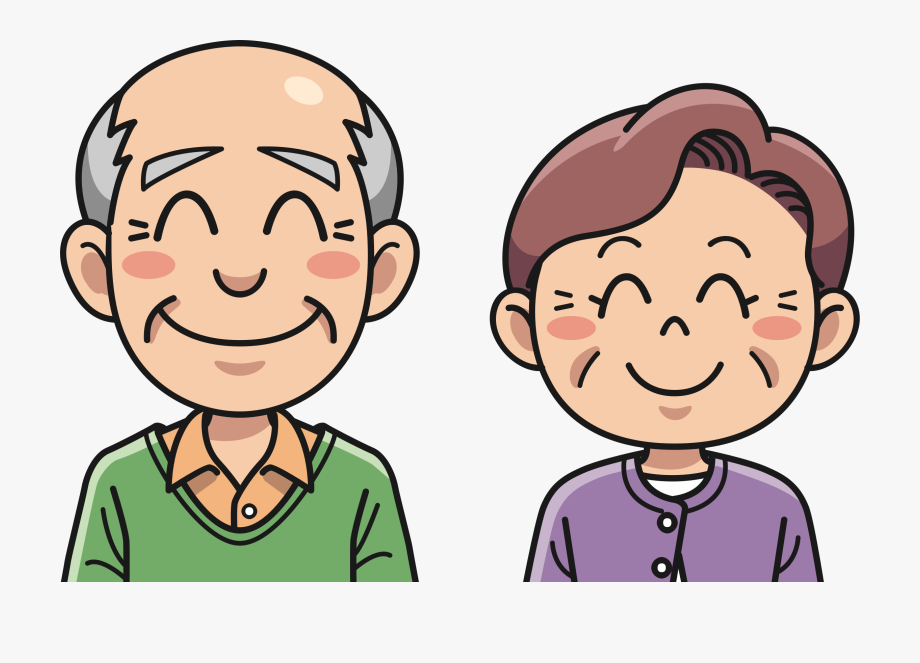 Grandma and grandpa clipart picture black and white library Grandpa Clipart Happy Old Couple - Grandma And Grandpa Png #312215 ... picture black and white library