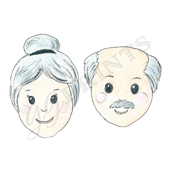 Grandma and grandpa clipart clipart freeuse Grandparents Clipart // Grandma and Grandpa Clipart // Planner ... clipart freeuse