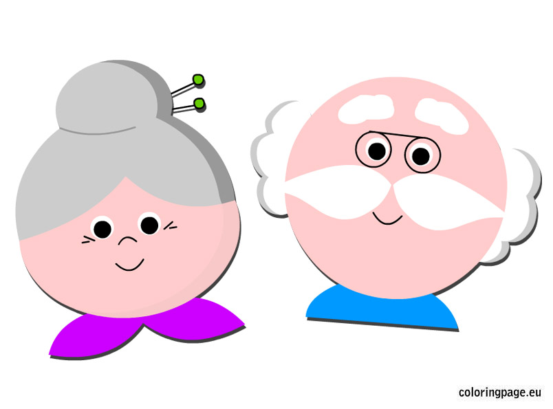Grandpa and grandma clipart 1 » Clipart Station graphic freeuse download