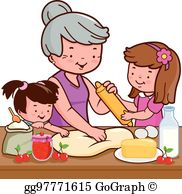 Grandma baking clipart clipart library stock Grandmother Cooking Clip Art - Royalty Free - GoGraph clipart library stock