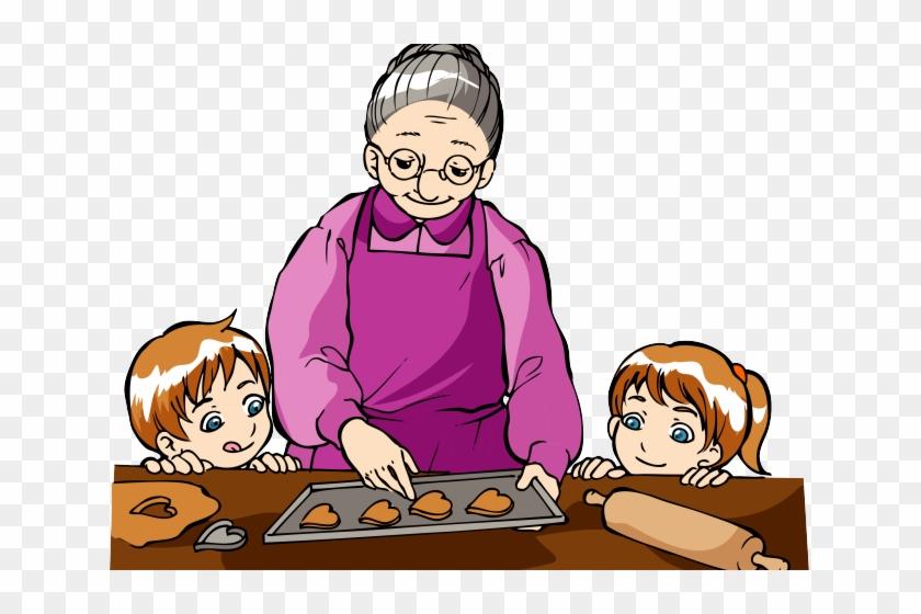 Grandma baking clipart clip royalty free library Baking Clipart Grandmother - Cooking With Grandma Cartoon, HD Png ... clip royalty free library