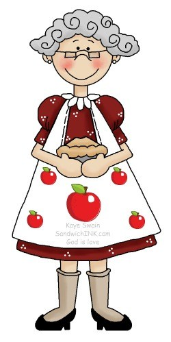Grandma baking clipart picture free Tasty Homemade Apple Dessert Recipes for Grandparents and Grandkids ... picture free