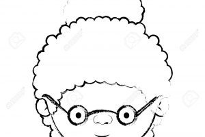 Grandma face clipart black and white clip royalty free download Grandma face clipart black and white 5 » Clipart Portal clip royalty free download