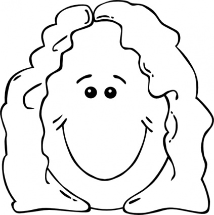 Grandma face clipart black and white graphic library download Child face clipart | Clipart Panda - Free Clipart Images graphic library download
