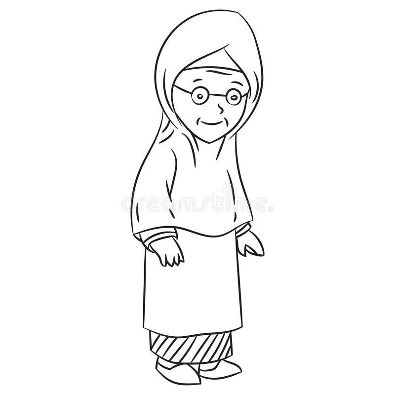 Grandma face clipart black and white picture Grandmother Clipart Black And White & Free Clip Art Images #10163 ... picture