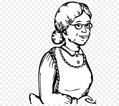 Grandma face clipart black and white clip free stock Grandma PNG - DLPNG.com clip free stock