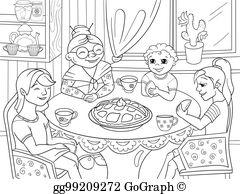 Grandma hugging grandchildren clipart black and white graphic freeuse Grandchildren Clip Art - Royalty Free - GoGraph graphic freeuse