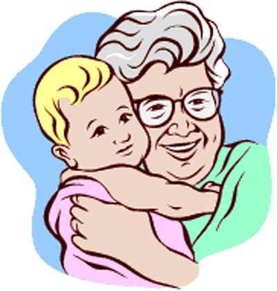 Grandma hugging grandchildren clipart black and white svg royalty free Grandmother Clipart Black And White | Clipart Panda - Free Clipart ... svg royalty free