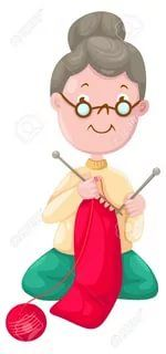 Grandma knitting clipart vector royalty free download knitting grandma clipart | Knitting Cartoons | Embroidery applique ... vector royalty free download