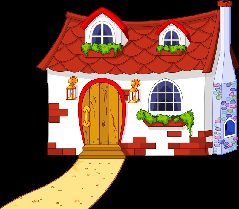 Grandma's house clipart svg freeuse stock fairytale_town_#2.png | Pinterest | Clip art, Cottage art and House svg freeuse stock
