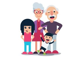 Grandparents with grandchildren clipart image black and white stock Clipart grandparents with grandchildren 2 » Clipart Portal image black and white stock