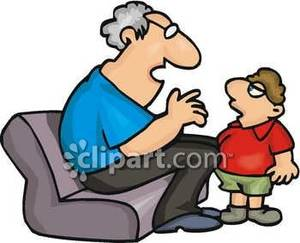 Grandson clipart image free Grandpa Talking with His Grandson - Royalty Free Clipart Picture image free