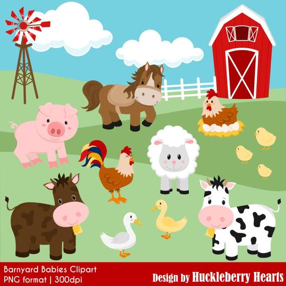 Granja clipart svg stock Farm Clipart, Barnyard Clipart, Cow Clipart, Horse Clipart, Pig ... svg stock