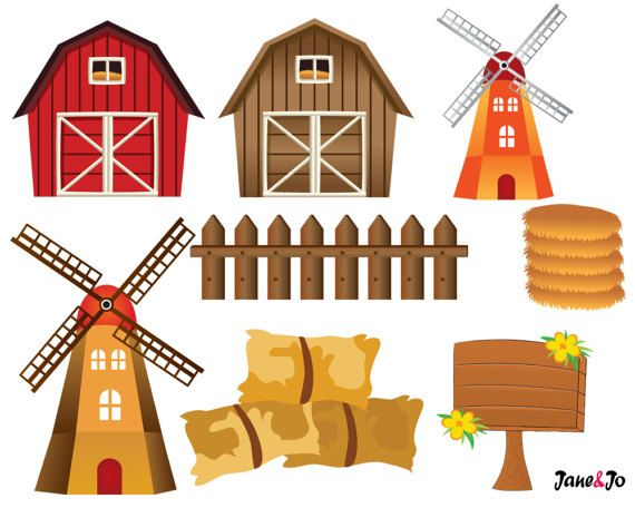 Granja clipart graphic royalty free library 50% OFF SALE Farm animals,Farm animal Clipart,Farm Clipart barn ... graphic royalty free library