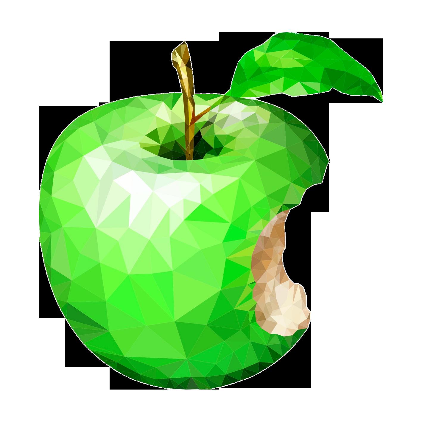 Granny smith apple tree clipart clipart freeuse stock Apple Icon Image format Icon - Creative lattice-like green apple ... clipart freeuse stock