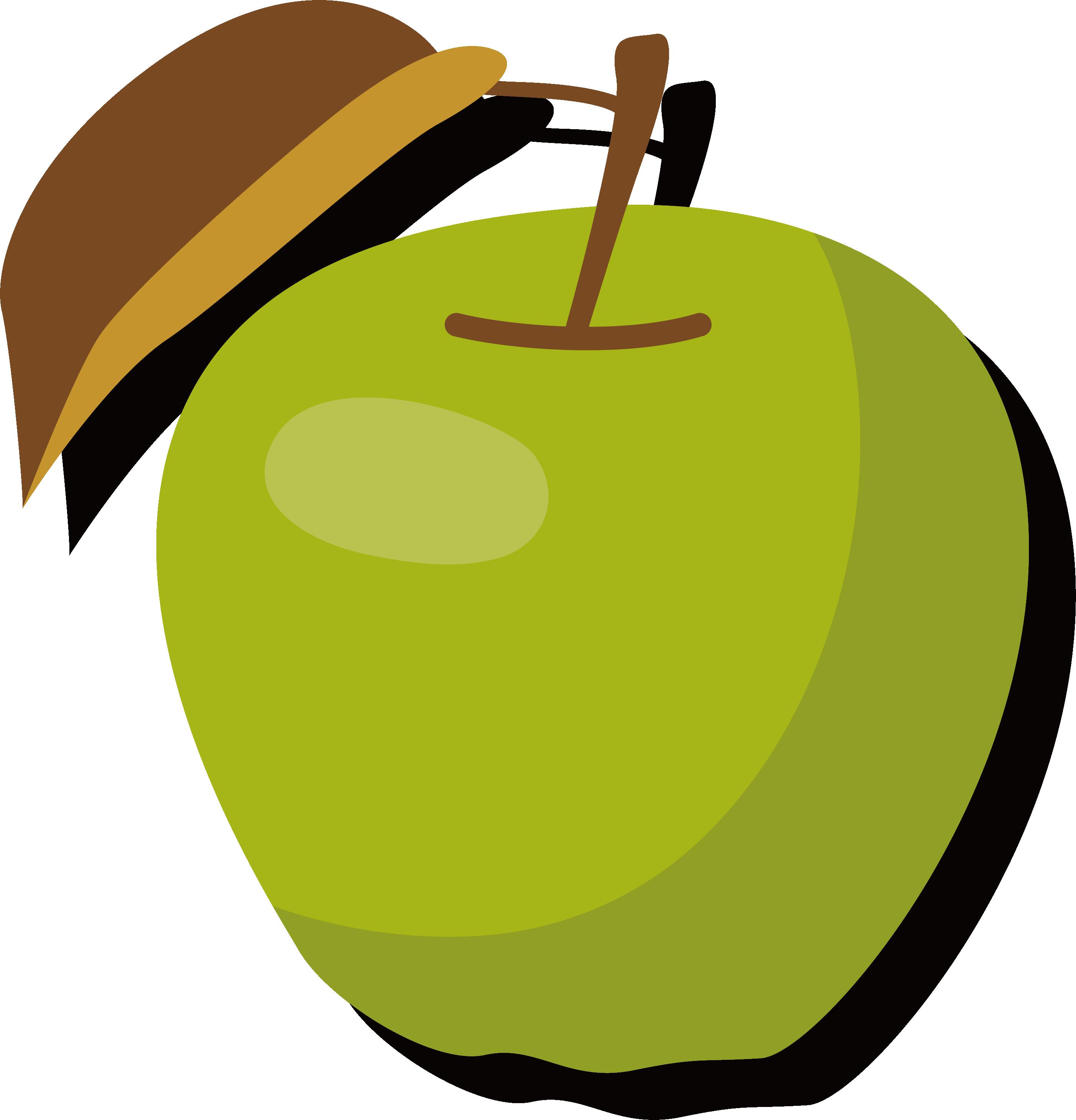 Green apple tree clipart clip art freeuse download Apple Manzana verde Clip art - Ripe green apple 2808*2922 transprent ... clip art freeuse download