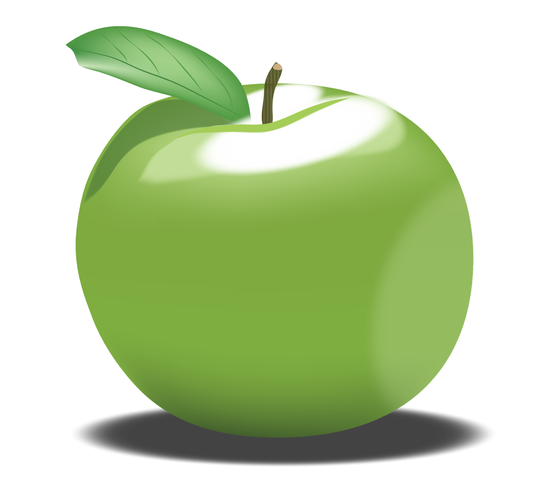 OnlineLabels Clip Art - Green Apple clipart transparent download
