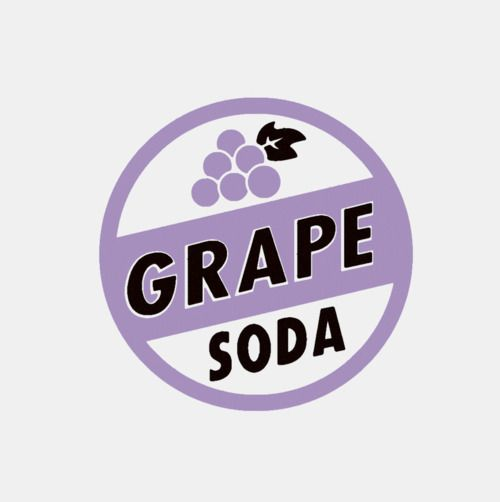 Grape soda pin clipart jpg black and white stock grape soda label from Up | Design | Branding | Grape soda, Grape ... jpg black and white stock