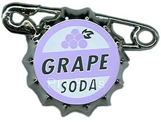 Grape soda pin clipart banner transparent stock Disney Pin 79373- Disney-Pixar\'s Up - Ellie Badge Grape Soda, Purple and  White, 1 X 4 X 3 banner transparent stock