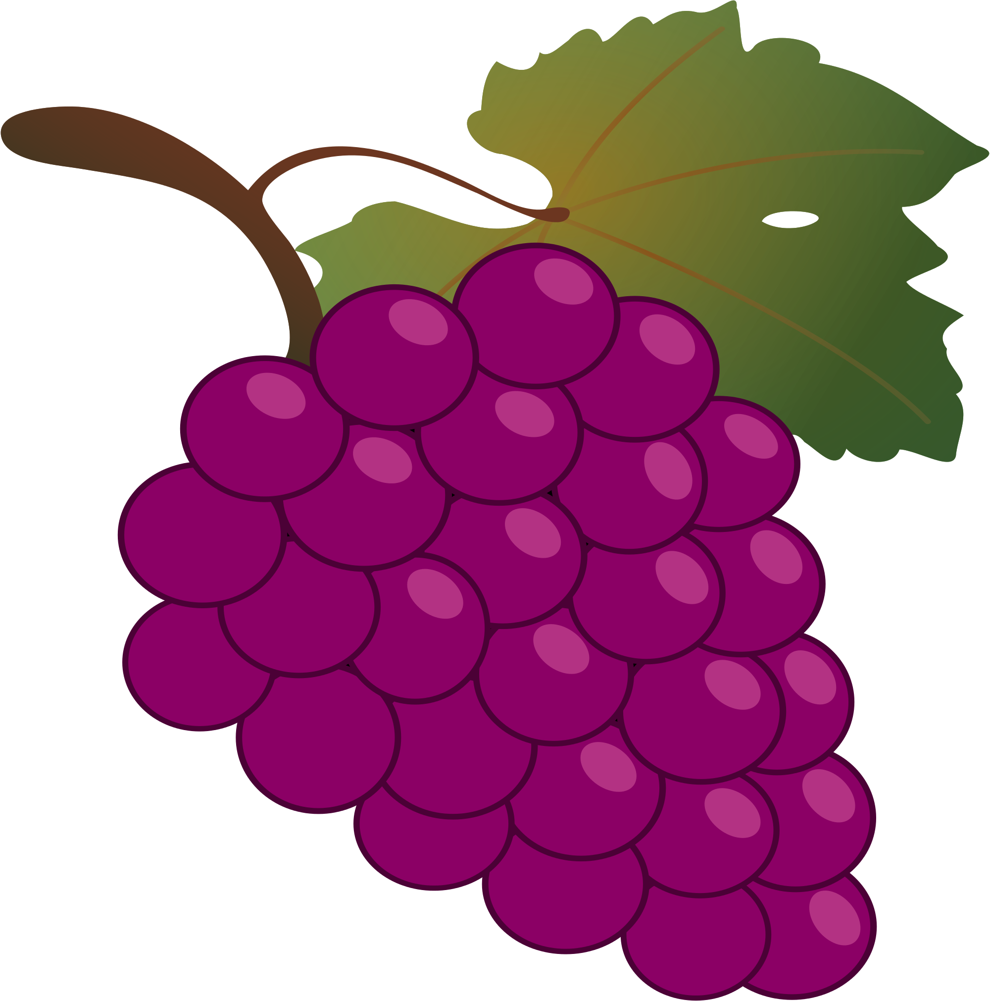 Grapes Clipart to printable – Free Clipart Images vector royalty free download