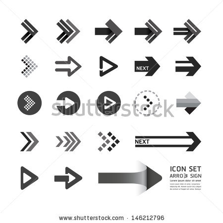 Graphic arrow clip library stock Arrow Icons Design Set Can Be Stock Vector 146212793 - Shutterstock clip library stock