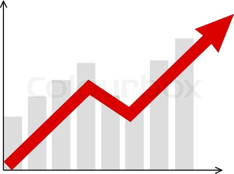 Graphic arrow clip art stock Graphic vector diagram with red arrow going up | Stock Vector ... clip art stock