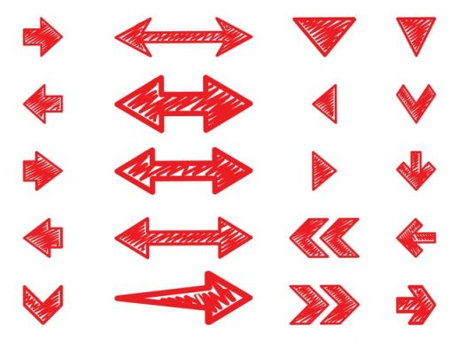 Graphic arrows picture royalty free Hand Drawn Arrows Set Vector - AI PDF - Free Graphics download picture royalty free