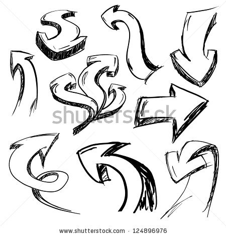 Graphic arrows graphic freeuse stock Handdrawn Graphic Arrows Set Stock Vector 124896976 - Shutterstock graphic freeuse stock