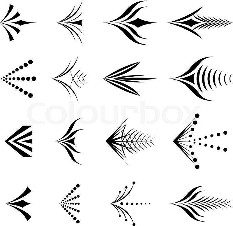Graphic arrows clipart black and white download Decorative graphic arrows | Stock Vector | Colourbox clipart black and white download