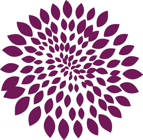 Graphic art flower image library FLOWER BLOOM DECAL STICKER WALL ART GRAPHIC VERSION 1 | dabbledown ... image library