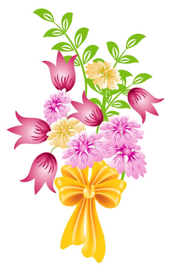 Graphic art flower clipart royalty free Spring Bouquet PNG Clipart | CLIPART | Pinterest | Clip art ... clipart royalty free