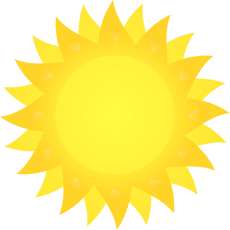 Sun on the beach clipart