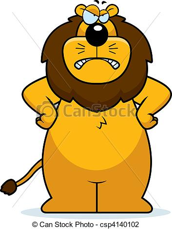 Graphic clipart lion angry picture free stock Vector Illustration of Angry Lion - An angry cartoon lion frowning ... picture free stock
