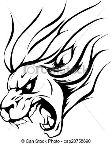 Graphic clipart lion angry picture black and white stock Graphic clipart lion angry - ClipartFest picture black and white stock