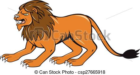 Graphic clipart lion angry jpg transparent stock Vector Clip Art of Angry Lion Crouching Side Cartoon ... jpg transparent stock