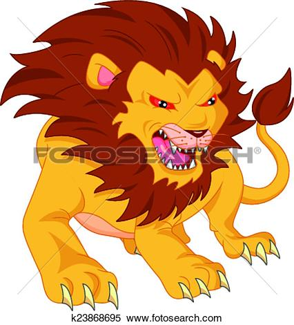 Graphic clipart lion angry image free stock Clipart of angry lion cartoon k23868695 - Search Clip Art ... image free stock