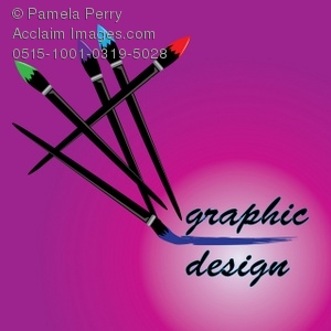 Graphic design clipart clip art free download Clip Art Illustration of Paintbrushes on a Graphic Design Logo ... clip art free download