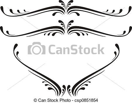 Graphic design clipart svg transparent library Drawing of scroll design - Calligraphical figures created for ... svg transparent library