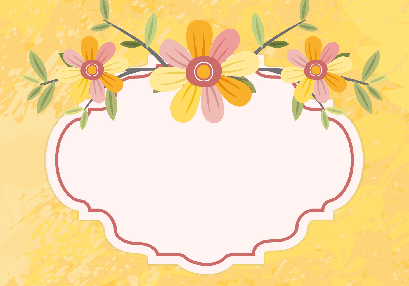 Graphic floral images clipart transparent stock Floral frame Vector Graphic — flowers, swirls, leaves clipart transparent stock