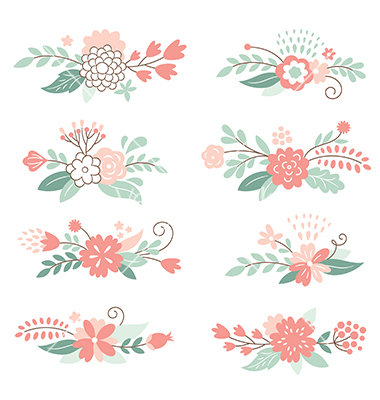 Graphic floral images image black and white stock Floral Vector Images (over 459,000) - VectorStock image black and white stock