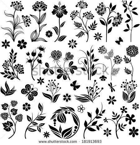 Graphic floral images clip art black and white download Graphic floral images - ClipartFest clip art black and white download